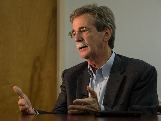 Maryland Attorney General Brian Frosh during an interview on Aug. 17, 2017. Frosh, flanked by the Legislature's Latino Caucus and representatives of other minority caucuses, announced that Maryland would join 19 other states in filing a lawsuit to prevent President Trump from adding a citizenship question to the U.S. census of 2020.