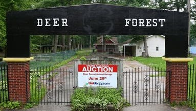 The entrance to Deer Forest in Coloma, Mich.