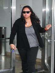 Colleen Reyes, shown in this 2017 file photo, was sentenced this week to a little more than eight years in federal prison for liquid meth shipped to Guam. PDN file photo.