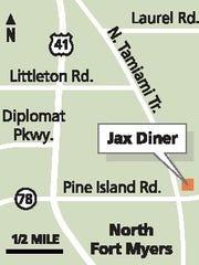 Jax Diner Map