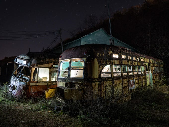 I first came across the trolley graveyard when a good