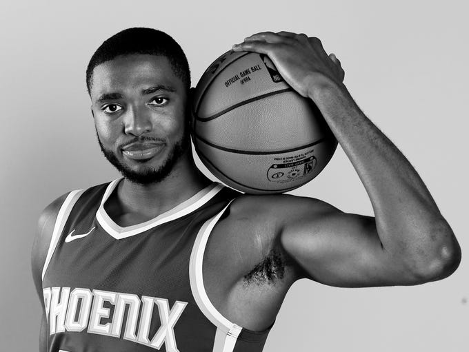 Mikal Bridges of the Phoenix Suns poses for a portrait