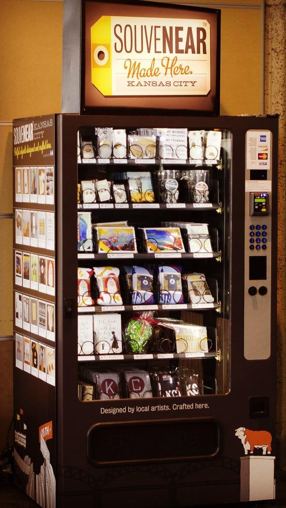 The SouveNEAR vending machine at Kansas City International