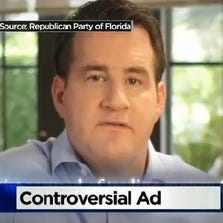 The man in the ad is Fort Lauderdale investor Dean Kretschmar.