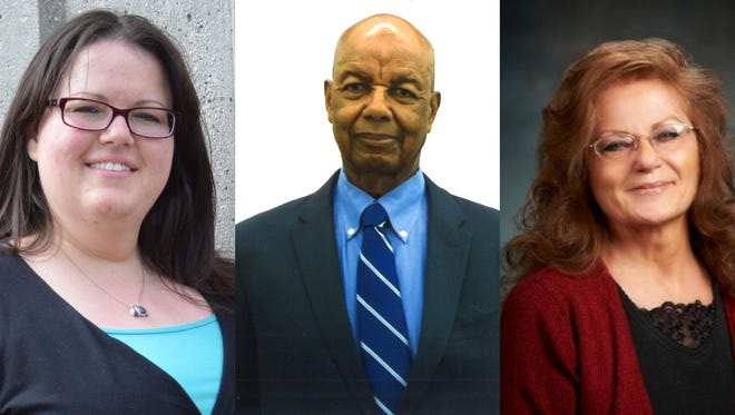 Ward 1 candidates include, from left, Kristin Blood, John Griffin and Mary Lou Ramon.