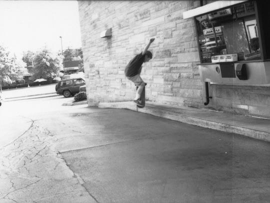 Skateboarders in the '90s made Chauncey Hill Mall in