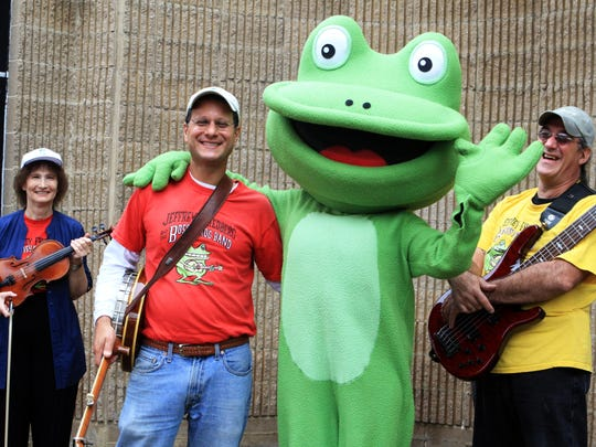 Members of The Bossy Frog Band from left, Alice Backer,