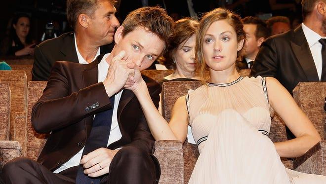 Eddie Redmayne and his wife Hannah Bagshawe in Venice Sept. 5, 2015.