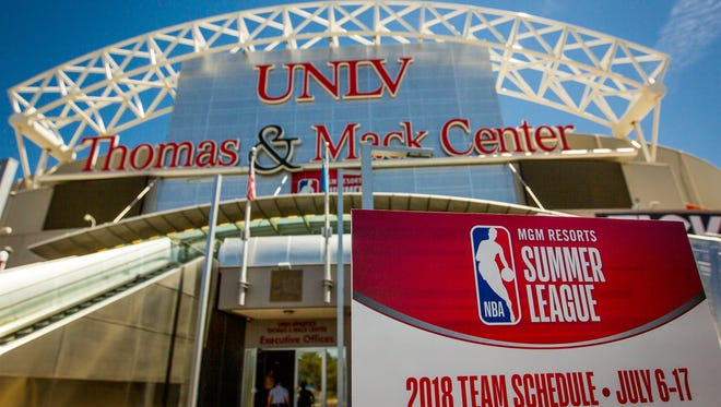 The Thomas and Mack Center at the University of Nevada Las Vegas will host part of the NBA Summer League.
