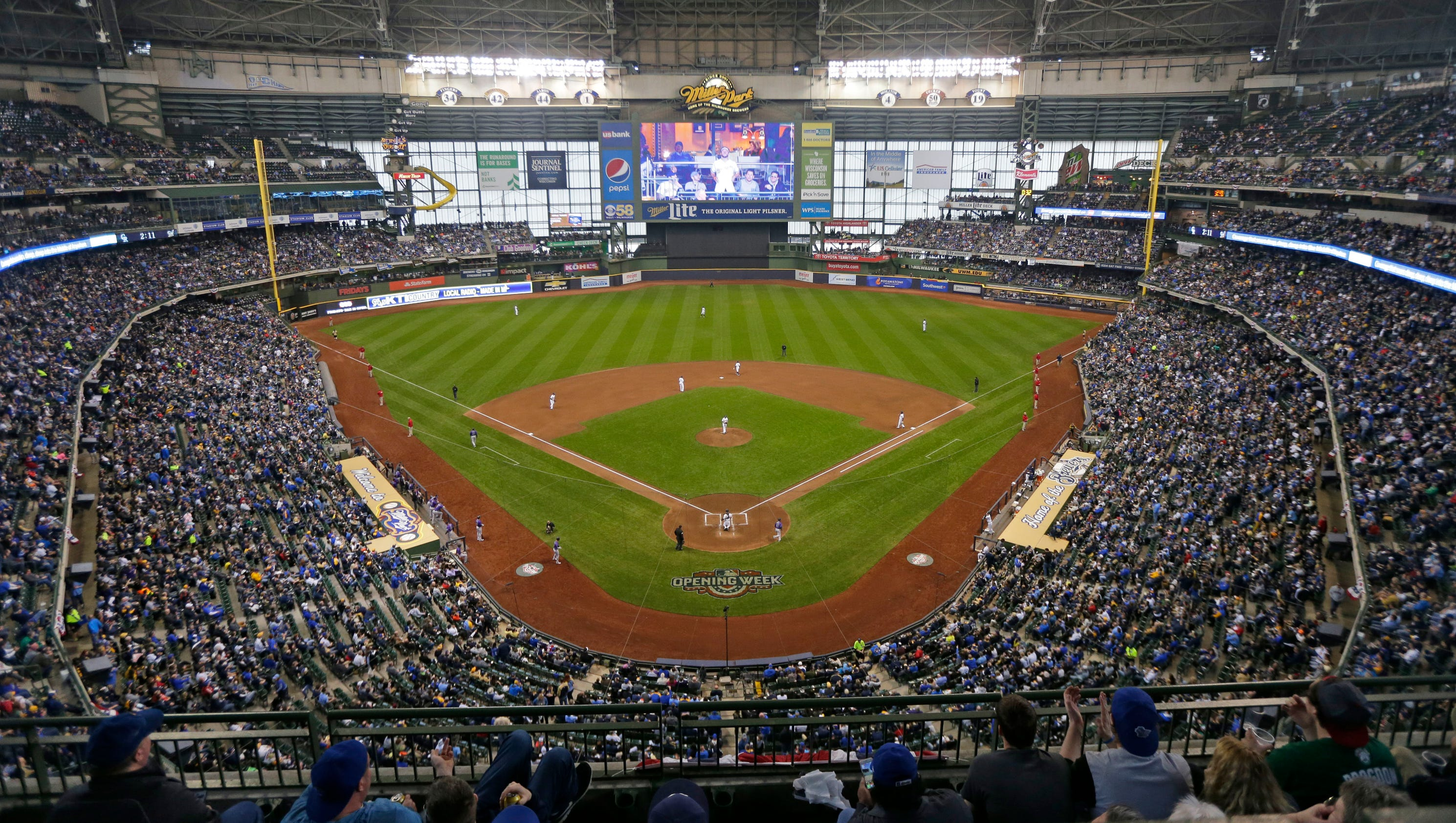 Photos: Opening day at Miller Park