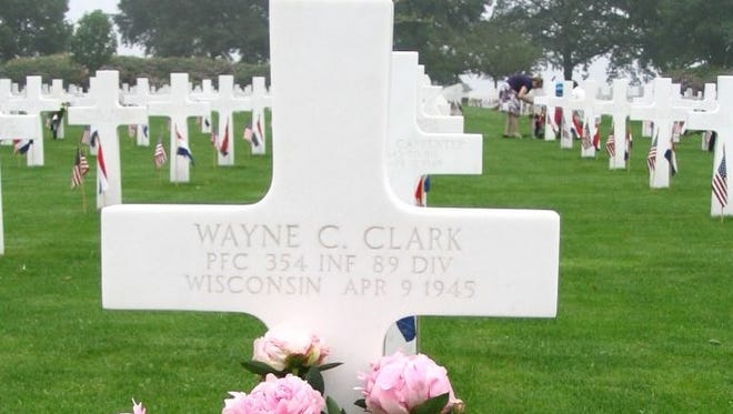 Wayne Clark, born in Mosinee in 1918, killed in battle in Germany in 1945, was laid to rest in the Netherlands American Cemetery in Margraten.