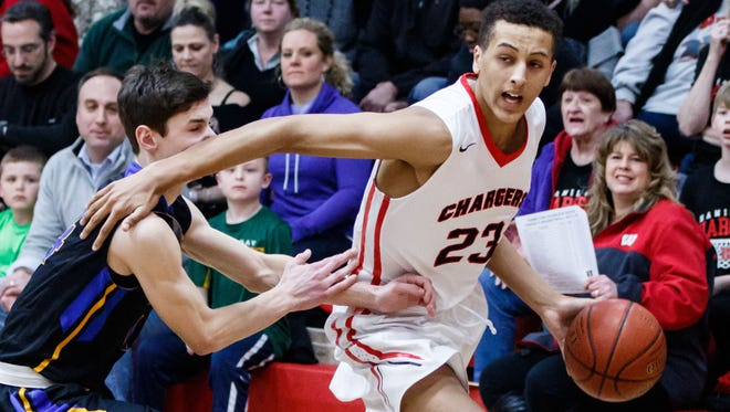 Sussex Hamilton freshman Patrick Baldwiin Jr. will be one of the players to watch at the boys state basketball tournament this week.