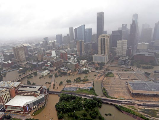 A Flooded Downtown Houston