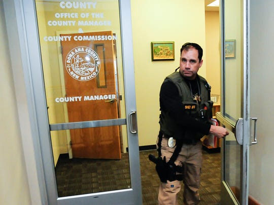 Doña Ana County Sheriff's detective Ken Roberts executed a search warrant at the county administration offices in 2015. Roberts later served as undersheriff from 2016 to 2018.