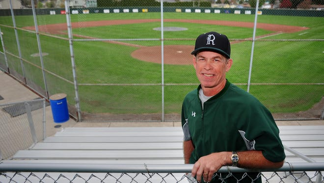 Regis head baseball coach Don Heuberger at the baseball diamond, on Saturday, March 28, 2015, in Stayton. Heuberger has the second most wins in Oregon baseball history