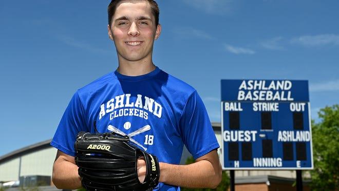 Former Ashland High School and Ashland Legion pitcher Alex Amalfi now pitches for UMass Boston.