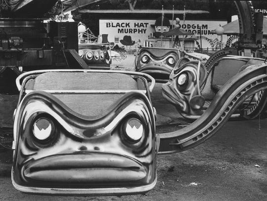 The rides at Edgewater Park, seen in 1981, had grown