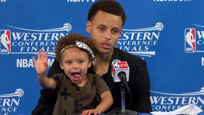 Riley Curry is the best at press conferences.