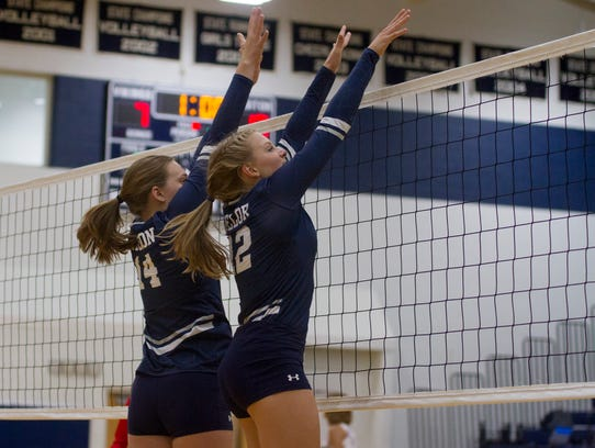 Marysville's Natalie Husson (14) and Hayley Delor (12)
