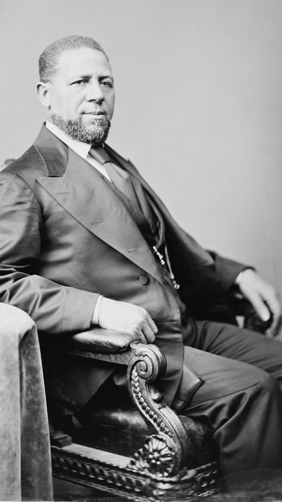 In 1870, Hiram Revels was elected U.S. senator for Mississippi. He was the first African American elected to the U.S. Senate.