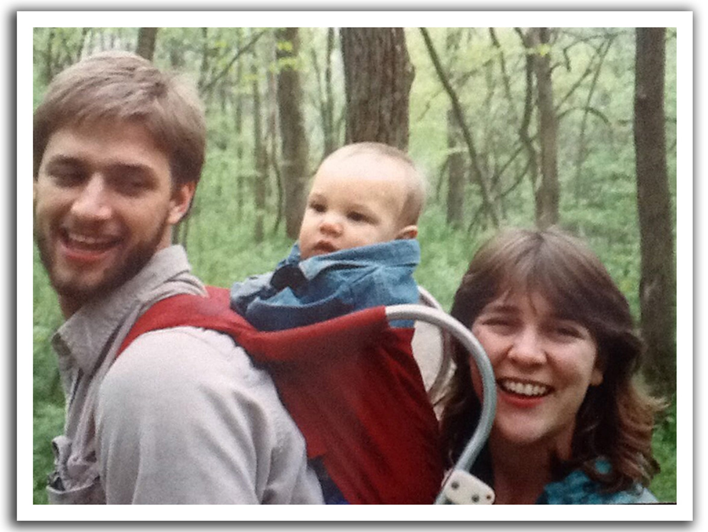 Joe and his first wife, Becky, with son Alex. Becky