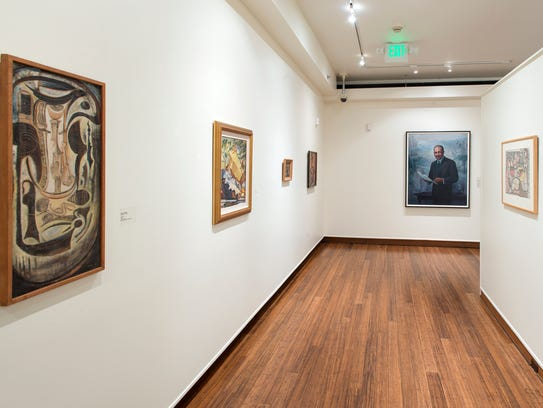 """Installation view from """"The Harmon."""" Fisk University"""