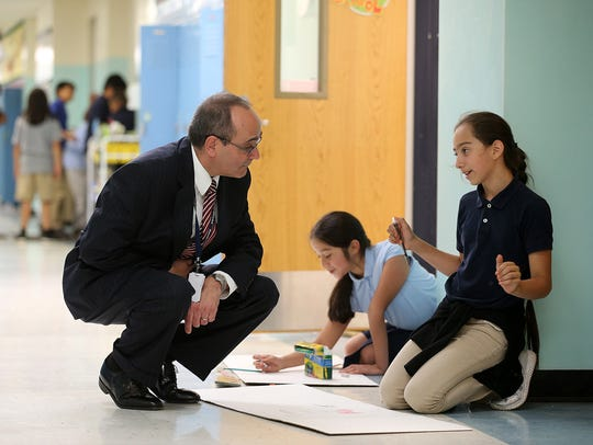 (L-R) Freehold Borough schools Superintendent Rocco