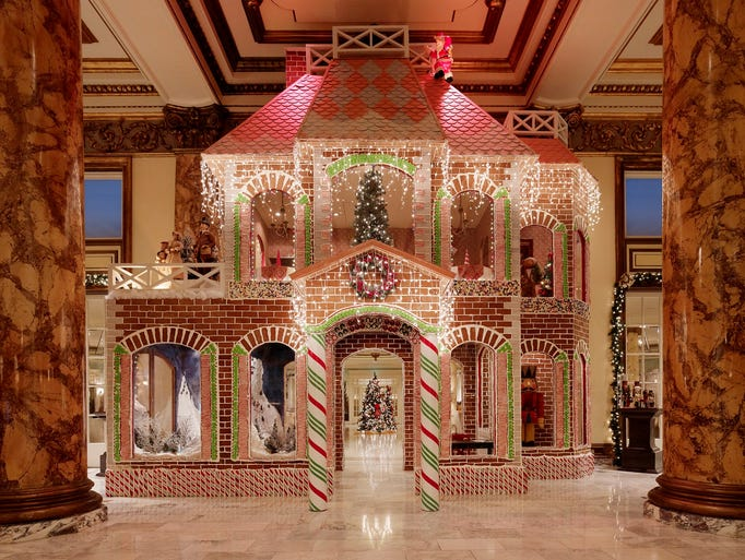 While charity donations are encouraged, no one's turned away from the gingerbread house at San Francisco's Fairmont Hotel.