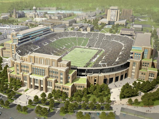 Rendering of Notre Dame Stadium expansion.