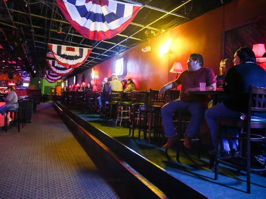 A row of seating was raised to allow for better viewing of the stage at Midnight Rodeo.