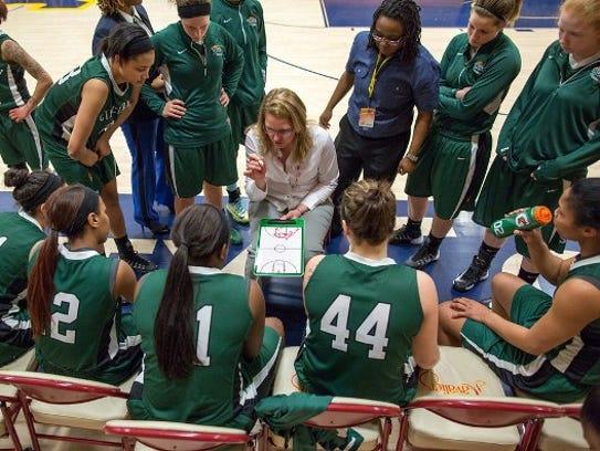 Sonya Beeler coached the Cincinnati State women's basketball
