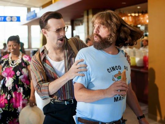 "Jason Sudeikis and Zach Galifianakis star in ""Masterminds."""