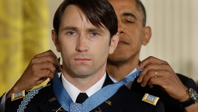President Obama awarded the Medal of Honor to former Army Capt. William Swenson on Oct. 15 at the White House.