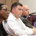Scotty Robinson, center, Ouachita Police Jury president, presides over the jury's regular meeting Monday.