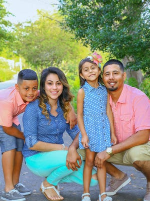 A photo from spring of this year showing the family involved in a fatal Collier County crash. Left to right: Jeremiah Garcia, 10, Jenny Anzualda Garza, 28, Alexis Garcia, 5, and Alex Garcia 28. Jeremiah and Garza are in critical condition, but Alexis and Alex Garcia died in the crash. The couple was engaged.