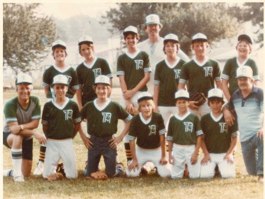 My Dad taught me baseball and a lot more coaching my youth league teams in Glen Rock and Shrewsbury. He's the 6-foot-5 guy in the back middle. My 12 or 13-year-old self is right next to him.