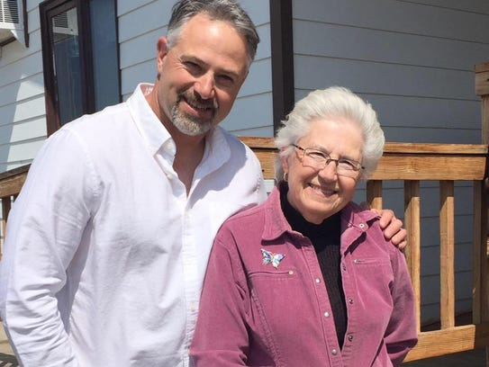 Greg Liebelt and his mother, Jeanne. They both love