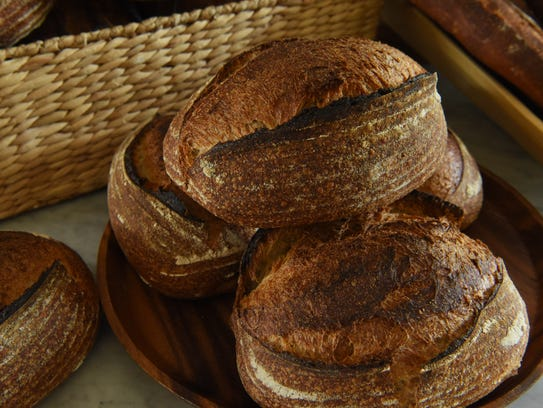 Some country sourdough loaves baked by Cynthia Kinahan,