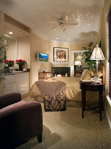 The Luxury Parlor at the Chateau Inn in Spring Lake.