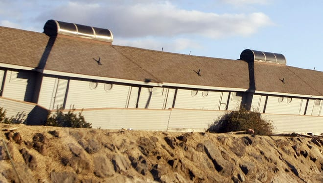 Severe damage to Driftwood Beach Club along Ocean Avenue in Sea Bright as seen in November 2012.