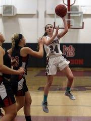 Morristown-Beard sophomore Bridget Monaghan goes up