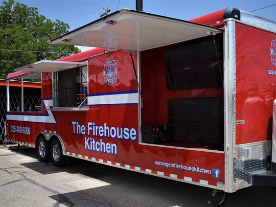 The Firehouse Kitchen food truck on July 16, 2018 at the corner of Knickerbocker and Bryant Blvd.