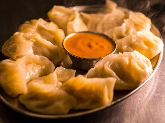 A favorite at the Nepali Kitchen at 10 Railroad Ave. in Essex Junction:  Momos made with chicken or vegetables and served with house-made achar  for dipping.