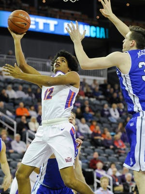 Dru Smith (12), who made the Missouri Valley Conference all-freshman team, is a player the Aces can build around.