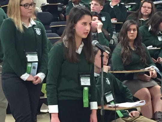 Clarksville Academy ninth-grader Cheyenne Diebert shines