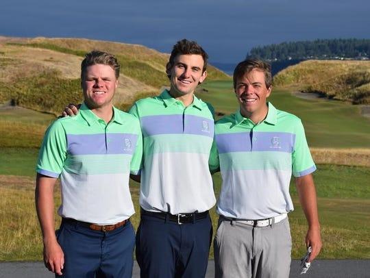 Left to right: Stephen Osborne, Hudson Stremmel and