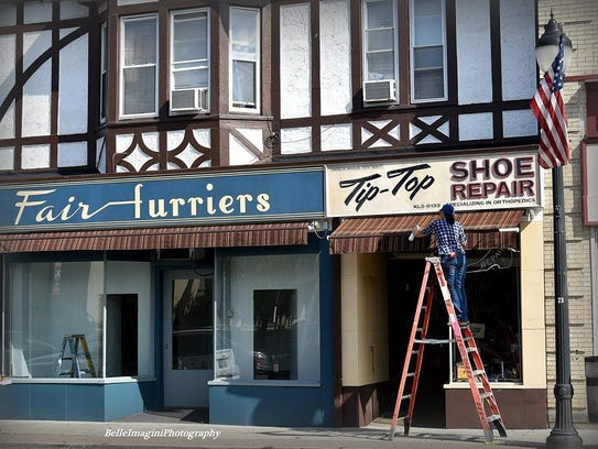 Downtown Suffern is transformed during a filming of