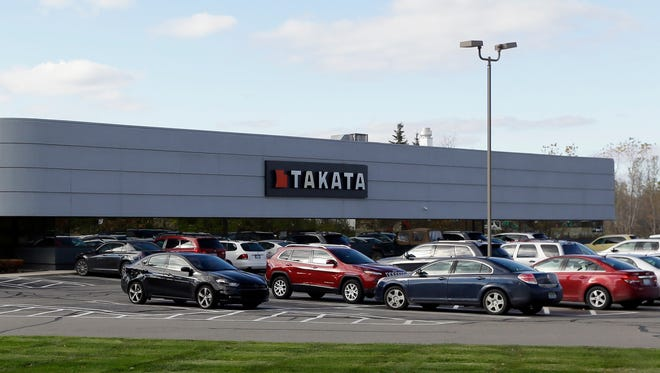 The Takata building, an automotive parts supplier in Auburn Hills, Mich. is seen on Wednesday, Oct. 22, 2014.