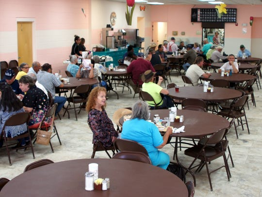 The dining room at the Deming Senior Citizen's Center