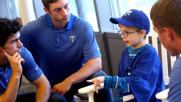 Luke Denson, shown in November 2014, had Shwachman-Diamond syndrome and was paired with the MTSU baseball team through a nonprofit organization.